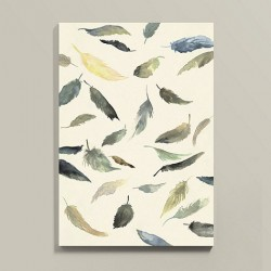 nature inspired feathers wall art
