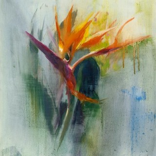 A closer look to nature with art work of 'Bird of Paradise'