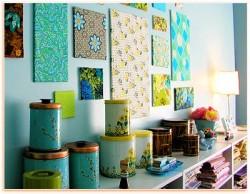 Fabric Wall Decorating