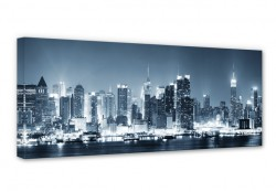 New York at Night 1 Panorama Canvas print