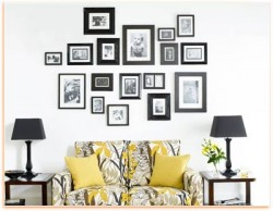 wall decorating with picture arrangement