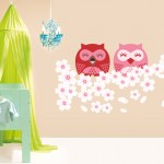 Cherry Owls Wall sticker